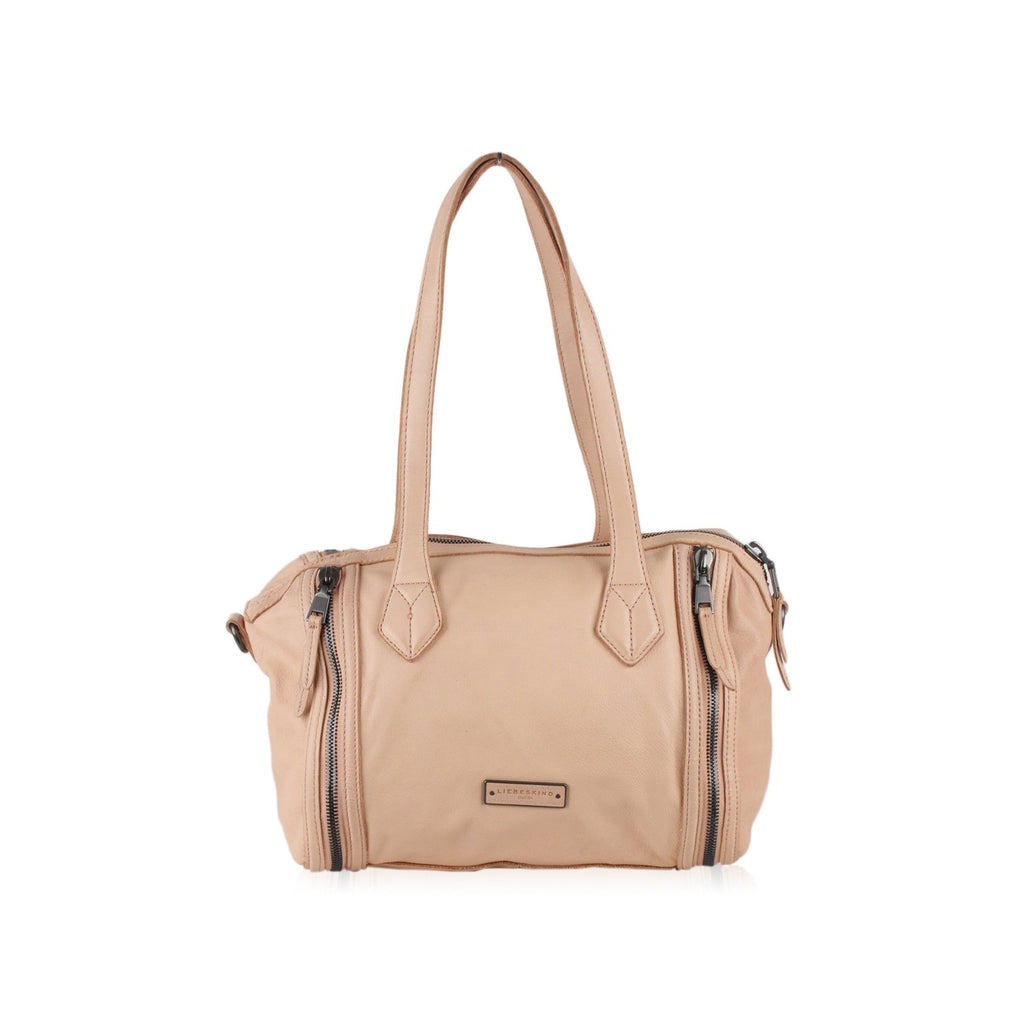 Liebeskind Beige Nude Leather Shoulder Bag Bowler Style - OPHERTY & CIOCCI
