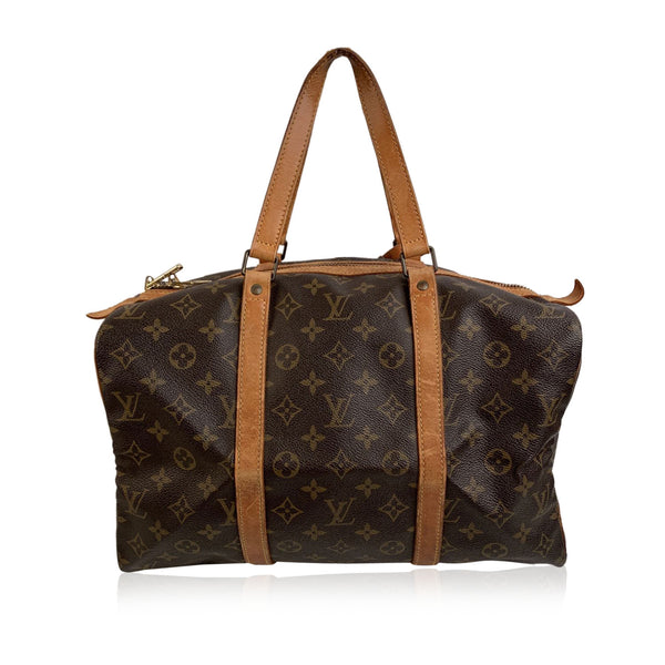 Louis Vuitton Vintage Brown Monogram Canvas Sac Souple 35 Bag