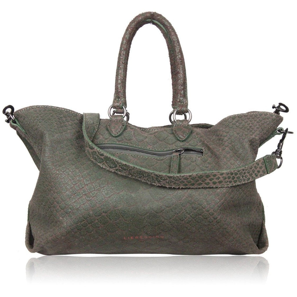 Liebeskind Berlin Green Embossed Leather Maxine Tote Bag
