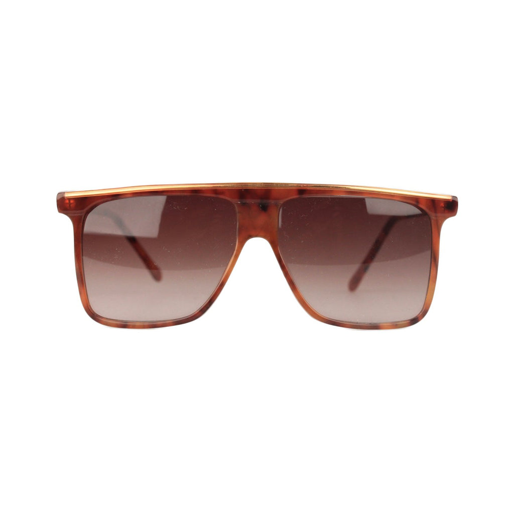 Vintage Brown Square Sunglasses 418 54mm - OPHERTY & CIOCCI