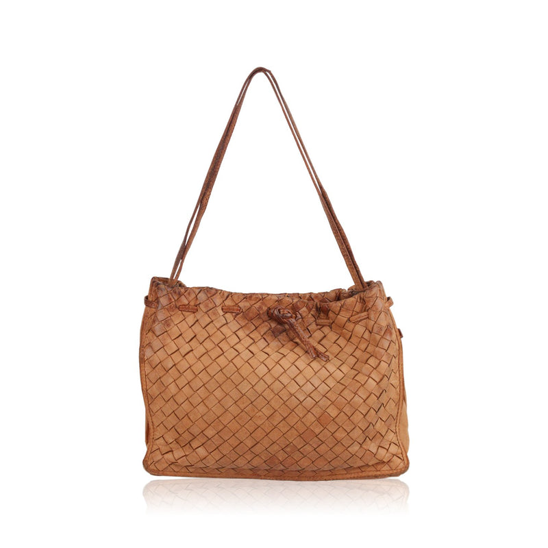 Vintage Intrecciato Woven Shoulder Bag