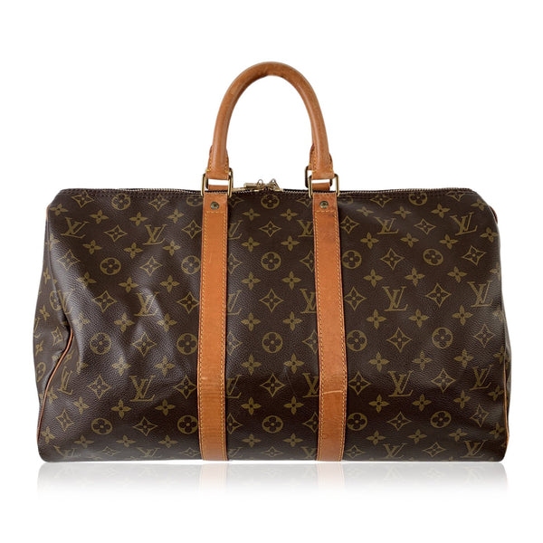 Louis Vuitton Vintage Monogram Canvas Keepall 45 Travel Duffle Bag