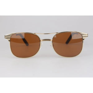 Aviator Sunglasses Mineral Glass LAUREN Brown Lenses