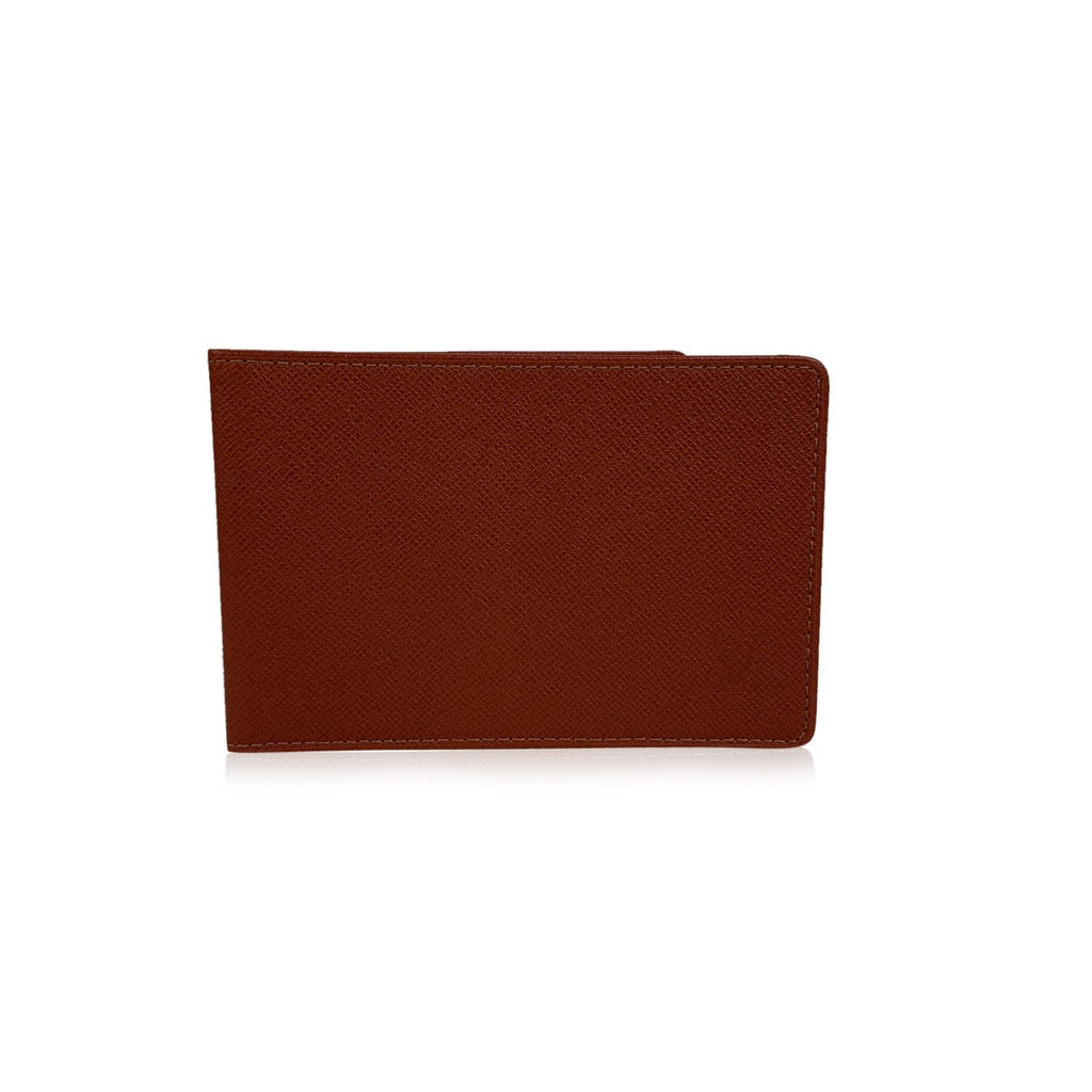 Louis Vuitton Light brown Tan Taiga Leather ID Document Holder - OPHERTY & CIOCCI