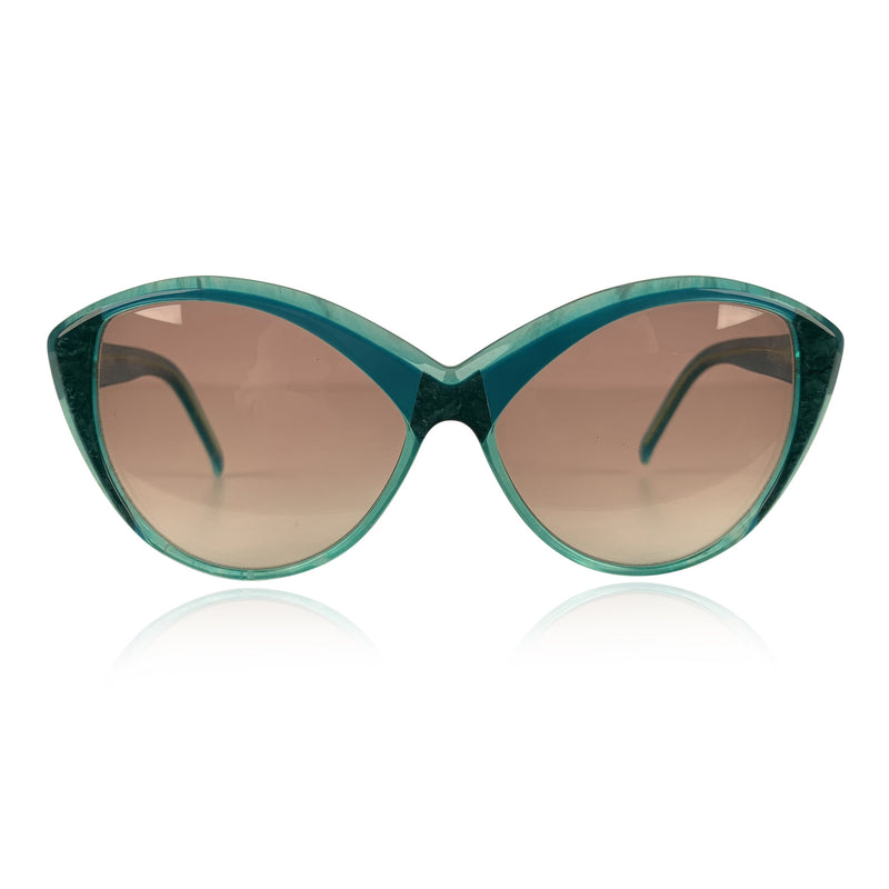 Yves Saint Laurent Vintage Cat Eye Turquoise Sunglasses 8702 P 71
