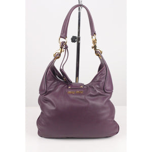 Nappa Hobo Shoulder Bag