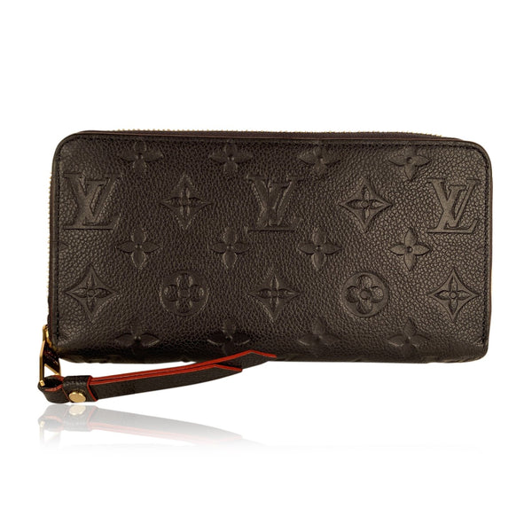 Louis Vuitton Blue Monogram Empreinte Leather Continental Zippy Wallet