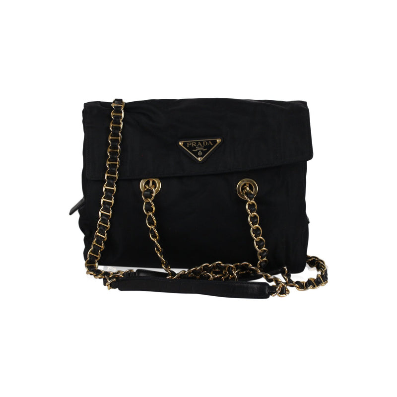 Tote Shoulder Bag with Chain Straps