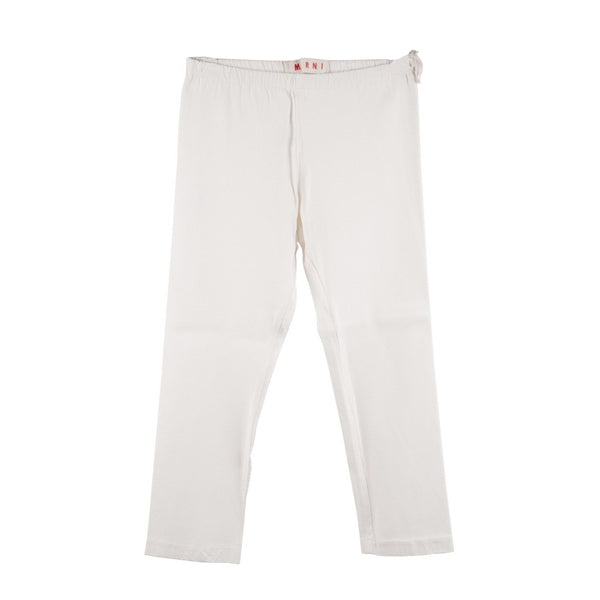 Marni White Stretch Jersey Cropped Leggings Pants Size 42