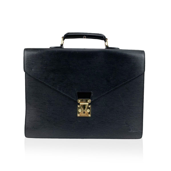 Louis Vuitton Black Epi Leather Ambassadeur Briefcase Business Bag