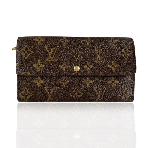 Louis Vuitton Vintage Monogram Brown Long Sarah Continetal Wallet