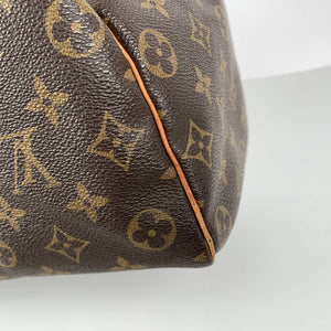 Louis Vuitton Vintage Brown Monogram Canvas Handbag Speedy 35 Bag
