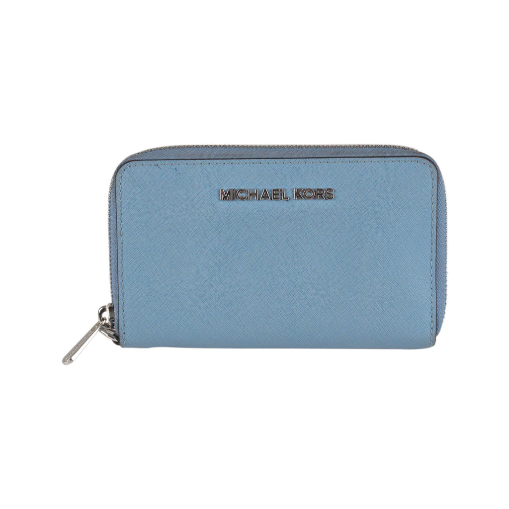 Michael Kors Blue Saffiano Leather Jet Set Travel Phone Wallet - OPHERTY & CIOCCI