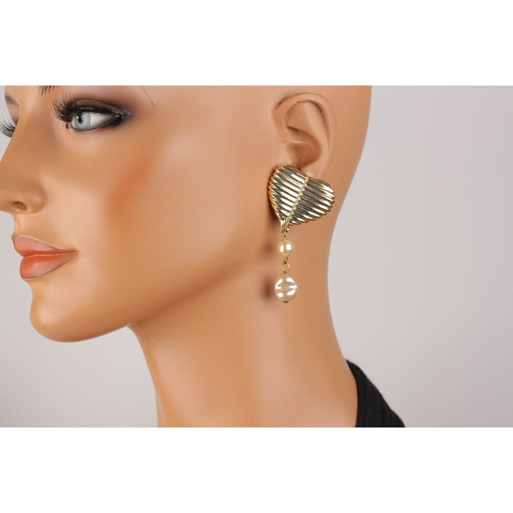 For Rocco Barocco Vintage Hearts Earrings