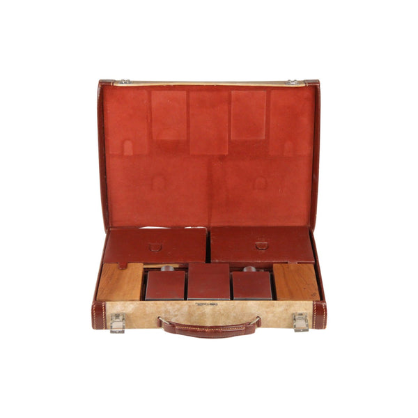 Hermes Vintage Leather Travel Grooming Set with Toiletry Accessories - OPHERTY & CIOCCI