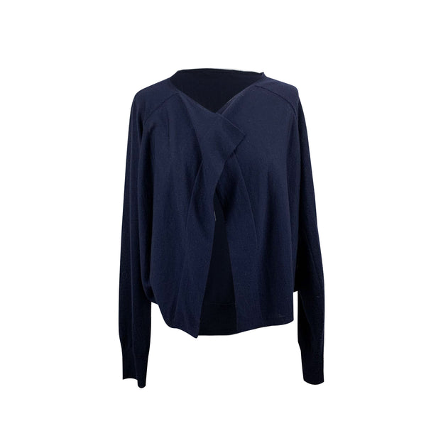 Strenesse Blue Wool and Cashmere Cardigan Size 44 IT