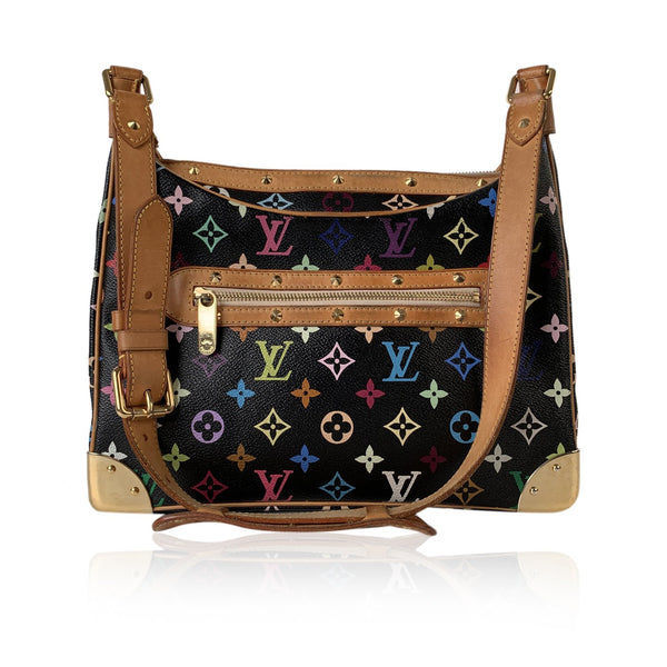 Louis Vuitton Black Multicolor Monogram Boulogne Shoulder Bag