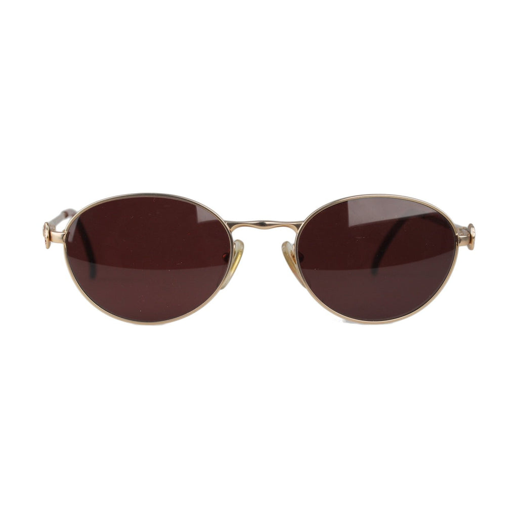 Kenzo Vintage Gold Metal Sunglasses Clethra K1194 54-18mm New Old Stock