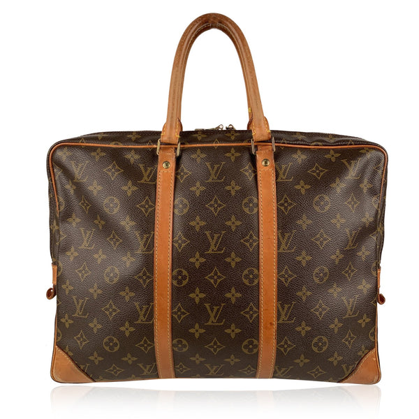 Louis Vuitton Vintage Monogram Canvas Porte Document Voyage Briefcase