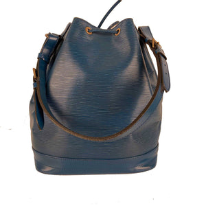 Louis Vuitton Vintage Blue Epi Leather Noé Shoulder Bag Bucket Noe