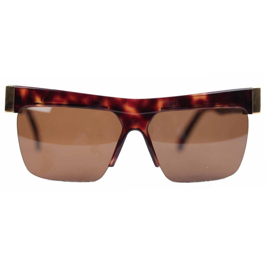 Gianni Versace Vintage Gold Brown Unisex Sunglasses Mod. 399 60mm