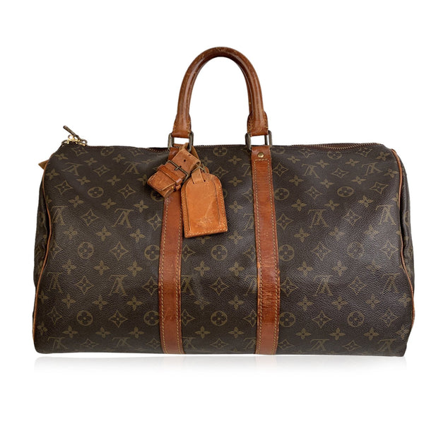 Louis Vuitton Vintage Monogram Canvas Keepall 45 Travel Duffel Bag