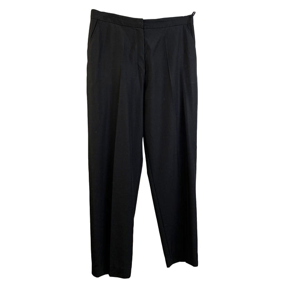Yves Saint Laurent Vintage Black Acetate Classic Trousers Size 42