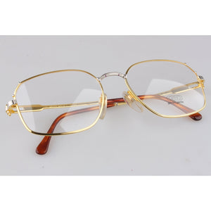 Rare Vintage Unisex Gold Plated Eyeglasses 59mm