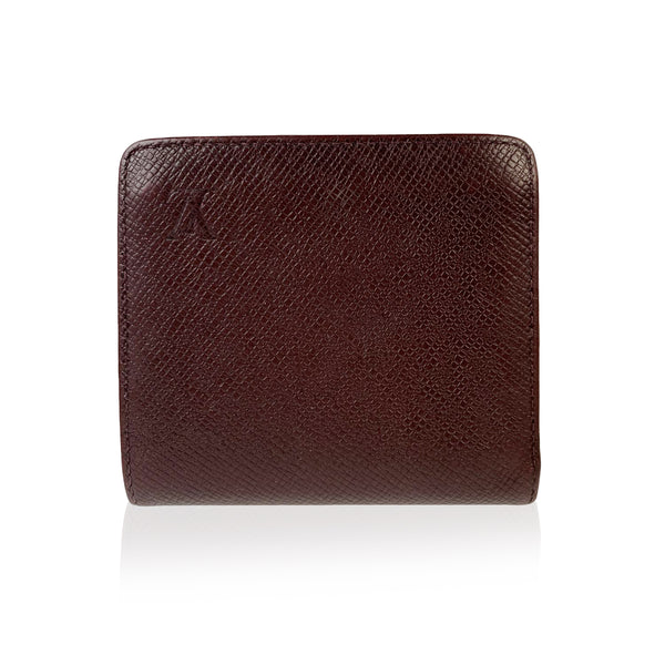 Louis Vuitton Brown Taiga Leather Porte Billets Bifold Wallet