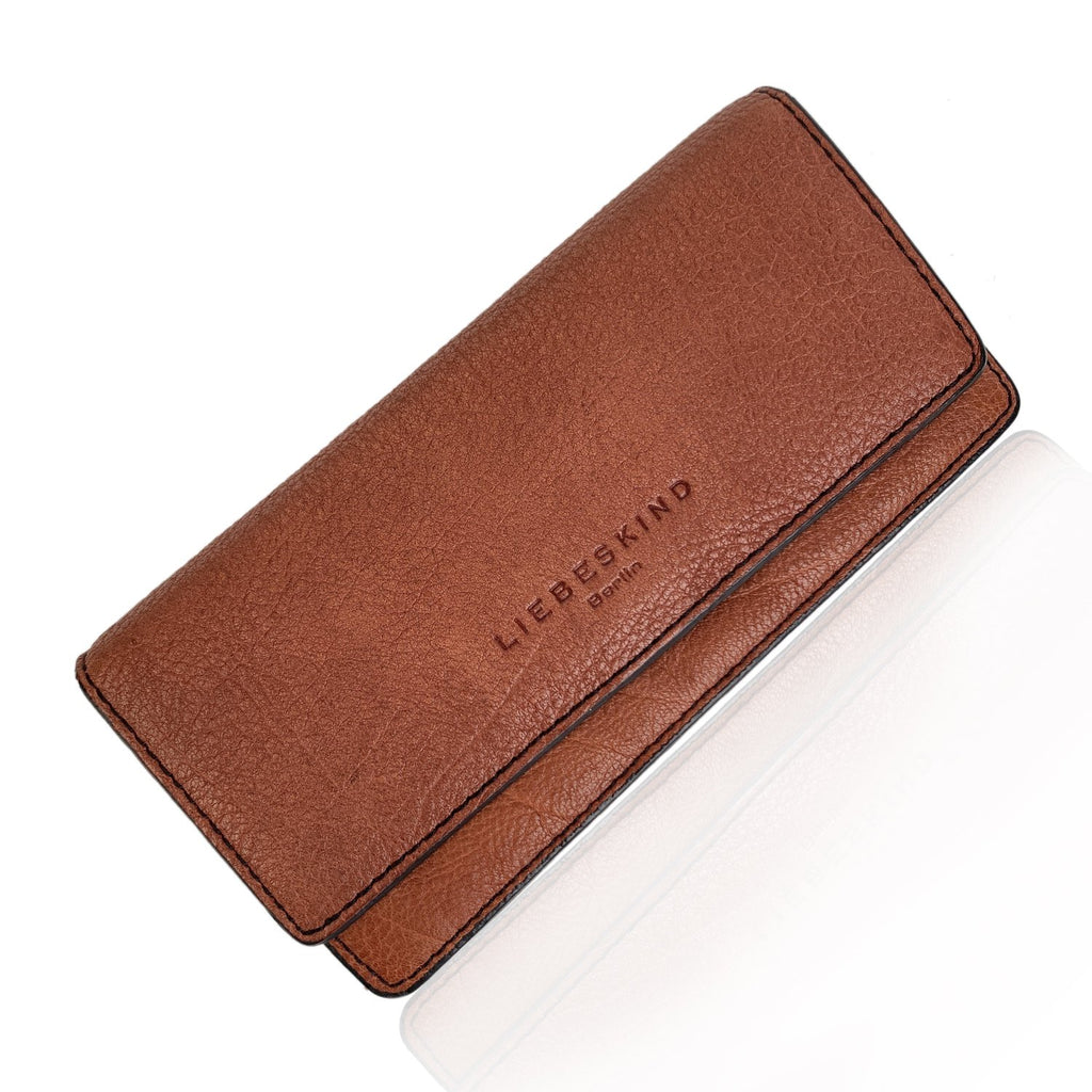 Liebeskind Tan Leather Clutch Continental Wallet Coin Purse