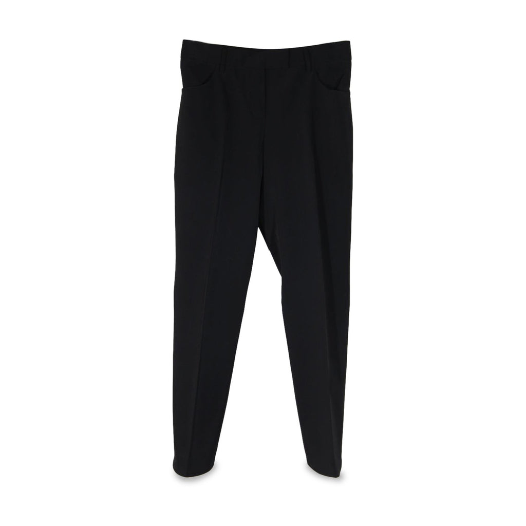 Prada Black Poly Techno Fabric Tailored Trousers Pants Size 42