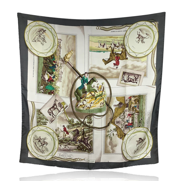 Hermes Vintage Rare Silk Scarf The Hunt 1963 Philippe Ledoux