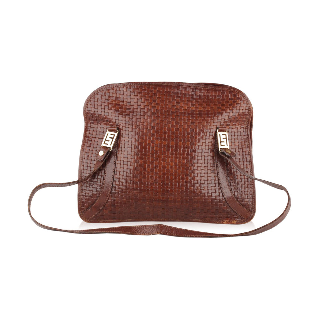 Fendi Vintage Woven Shoulder Bag