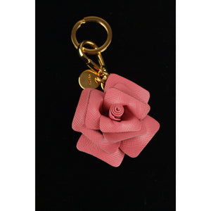 Saffiano The Rose Keyring Bag Charm