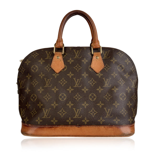 Louis Vuitton Vintage Monogram Canvas Alma Handbag Top Handle Bag
