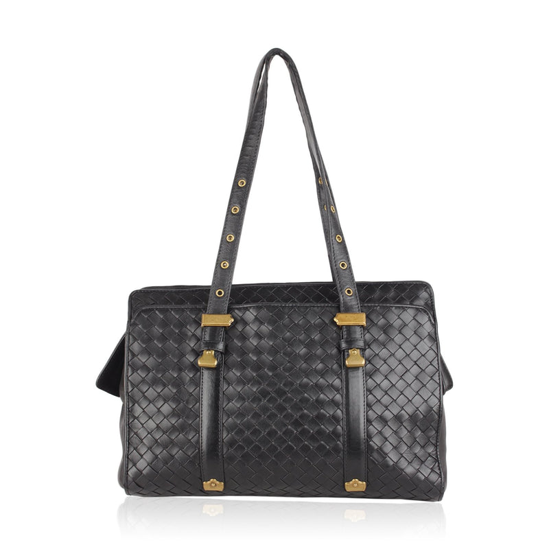 Intrecciato Woven Tote Shoulder Bag
