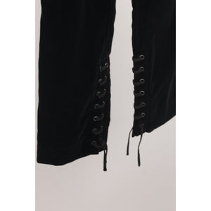 Velvet Pants Lace Up Detail Size 38