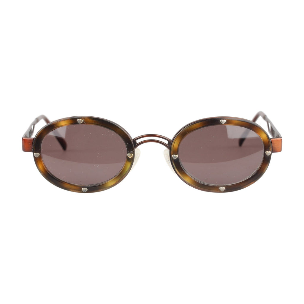 Moschino Sunglasses Brown Studded Hearts Mod. MM3010S 130 wide
