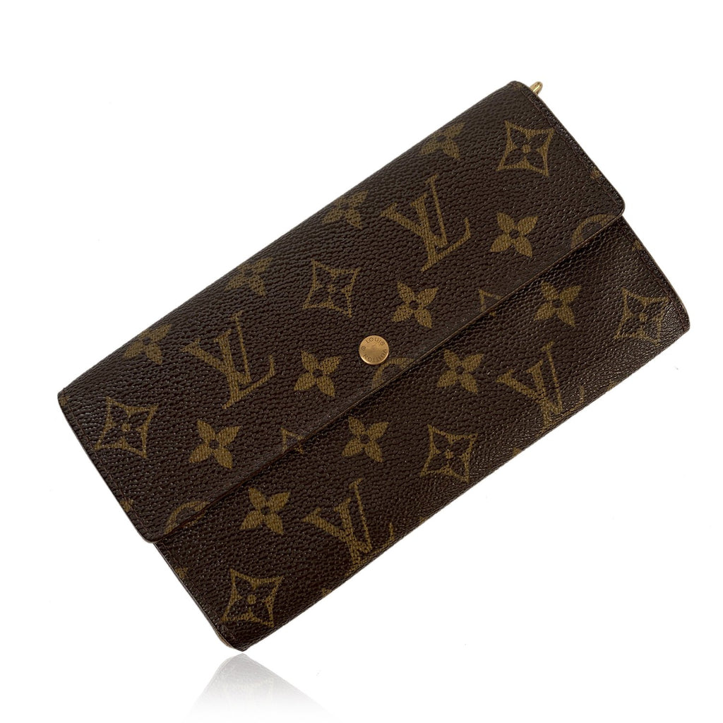 Louis Vuitton Vintage Monogram Brown Long Sarah Clutch Wallet