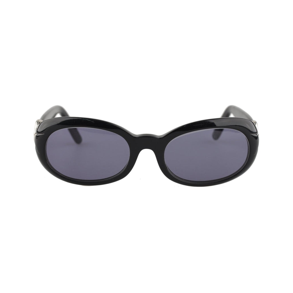 Cartier Black Silver Hoop  Sunglasses 130 mm 53/19