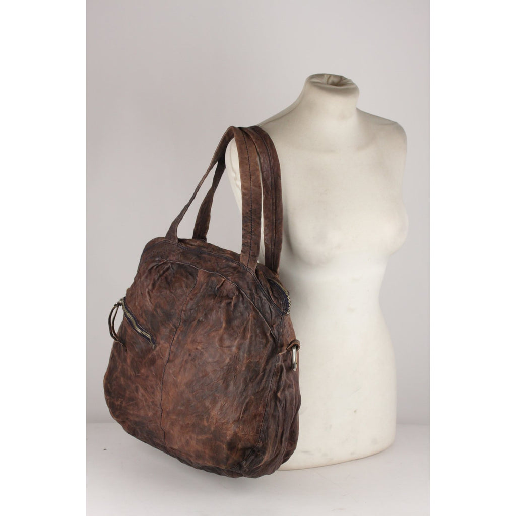 Antiqauted Leather Tote Shoulder Bag