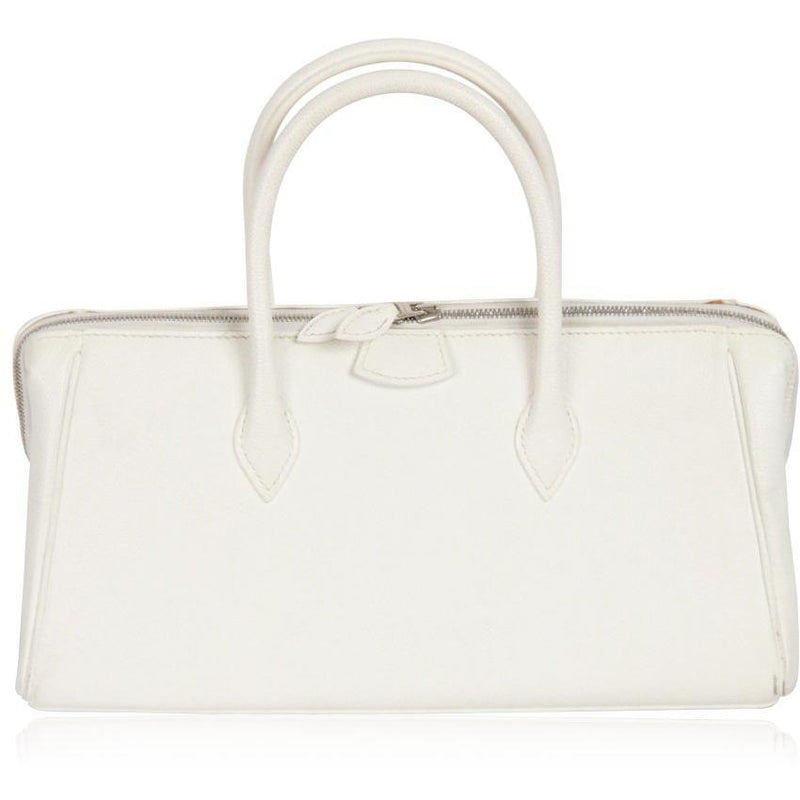 Hermes Hermes Paris White Leather Paris Bombay Bag Handbag 28 cm Purse