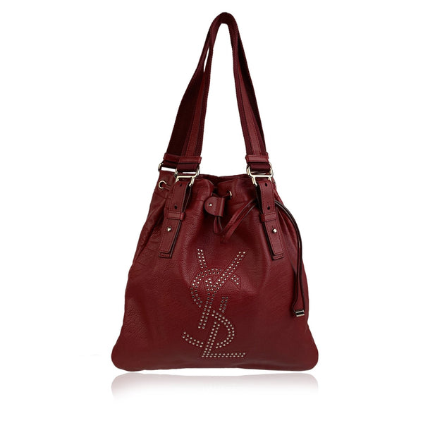 Yves Saint Laurent Red Leather Small Kahala Sac Tote Bag