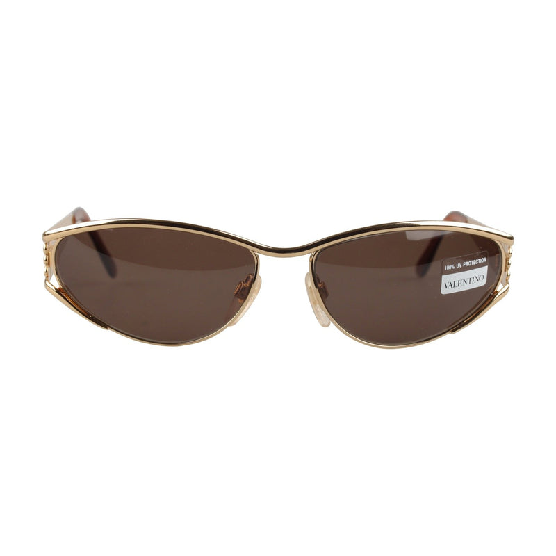 Valentino Vintage Gold Unisex Sunglasses V712 135mm wide