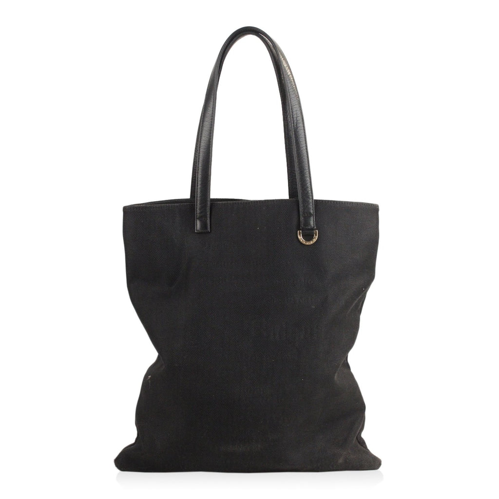 Black Canvas Sotirio Bvlgari Shopping Bag