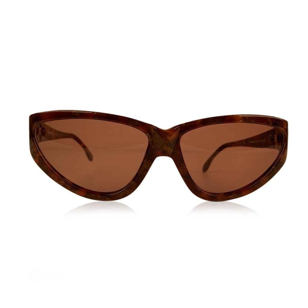 Yves Saint Laurent Vintage Brown Sunglasses 9004 P300 Wood Effect