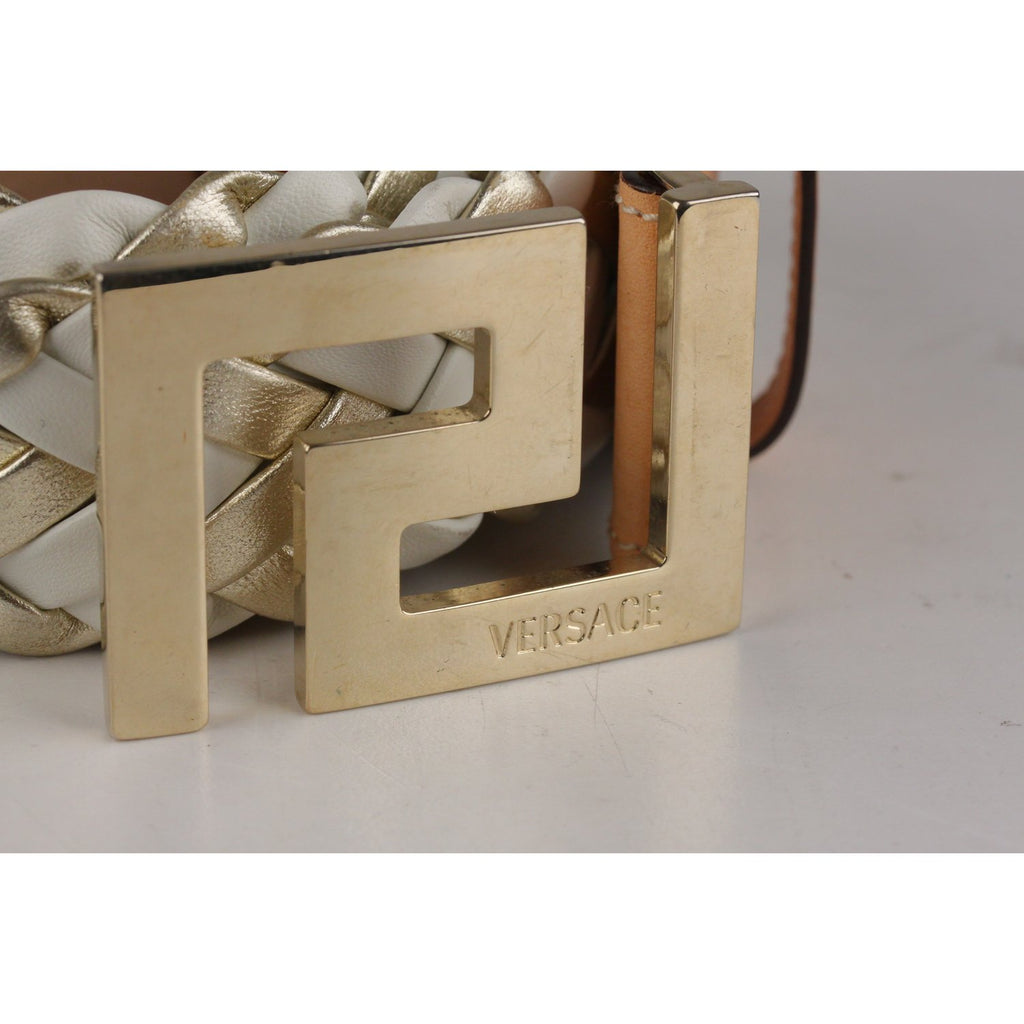 Versace Braided Leather Waist Belt 90/36