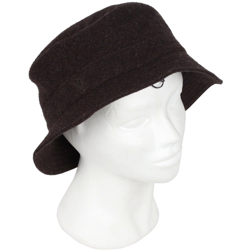HERMES Brown Wool and Cashmere CHAPEAUX Motsch Bucket Hat Size 59