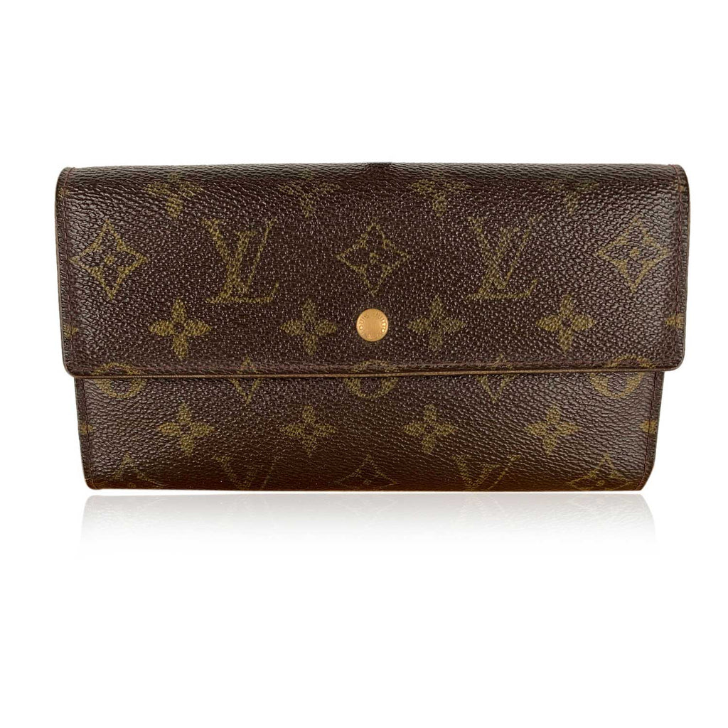 Louis Vuitton Vintage Monogram Brown Bifold Long Wallet Mod. Sarah