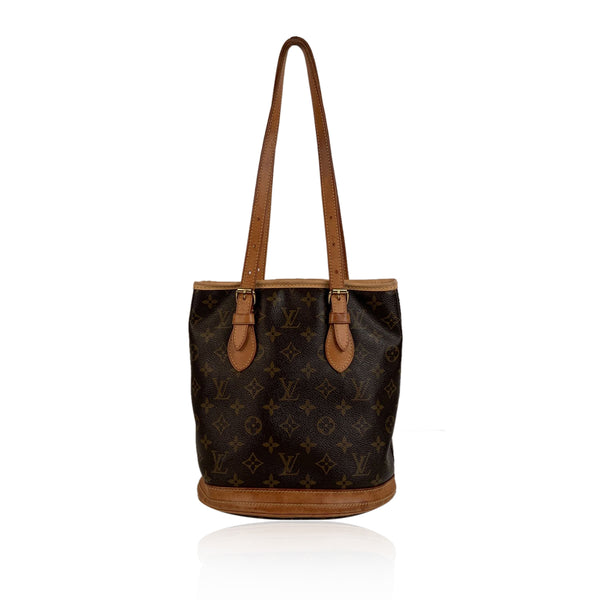 Louis Vuitton Monogram Canvas Bucket PM Shoulder Bag Tote
